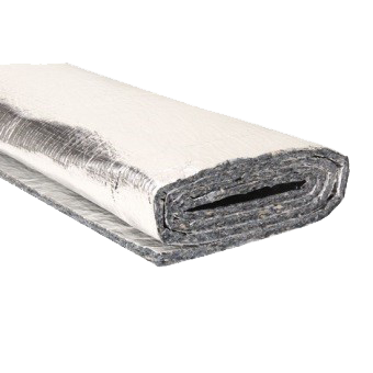Aluminised Heat and Noise Insulation Shield, Double Sided 4' x 6' Sheet.