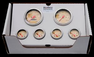 VeeThree Cream 6 Gauge Set ( all Senders Included) - Mechanical