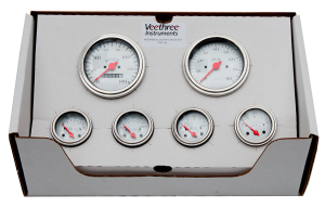 VeeThree White 6 Gauge Set - Mechanical