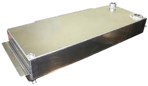 1947-1953-Chevy-GMC-Truck-Frame-Rail-Fuel-Tank-with-Baffles,-Zinc-Plated-Bed-Fill-19-Gallon-with-hardwarel