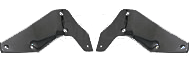 1953-1956-Ford-Pickup-Truck-Front-Bumper-Bracket-Set---Painted-Black