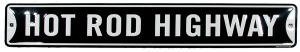 Embossed Tin Sign - Hot Rod Highway