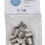 """1/2"""" Stainless Steel Single Line Clamp"""