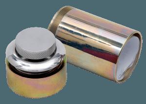 "Pop-up Aluminium Fuel Cap with 3"" Long Neck"