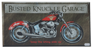 Busted Knuckle Garage - Tin Sign