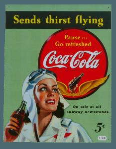 Coca Cola Flying - Tin Sign