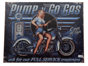 Pump n Go Gas - Tin Sign