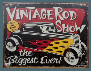 Vintage Rod Show - Tin Sign