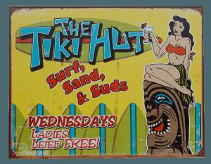 The Tiki Hut - Tin Sign