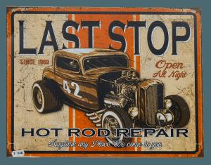 Last Stop - Tin Sign