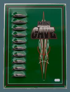 Cave Man – Louvered Tin Sign