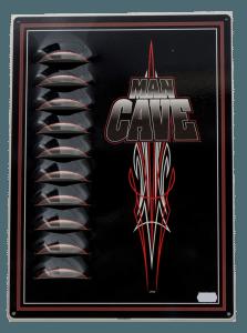 Cave Man (Black)  – Louvered Tin Sign