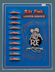 Rat Fink (Blue) – Louvered Tin Sign