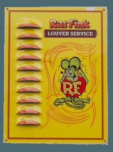 Rat Fink (Yellow) – Louvered Tin Sign