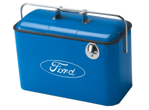 Ford-Metal-Coolers-with-Bottle-Opener-and-Snack-Tray-comes-in-Blue,-Black-or-Red