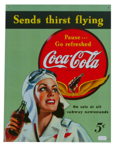 Coca Cola Flying – Tin Sign