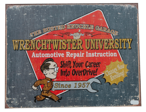 Wrenchtwister University – Tin Sign