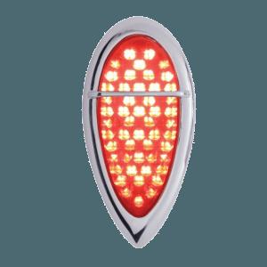 1938-39-Baby-Zephyr-LED-Tail-Light-w-Bezel---Flush-Mount---Red-Lens