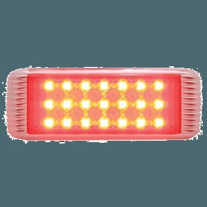 21-LED-Flush-Mount-Stop,-Turn-&-Tail-w-Bezel---Red-LED-Red-Lens
