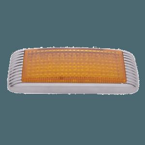 21-LED-Flush-Mount-Turn-Signal-w-bezel---Amber-LED-Amber-Lens