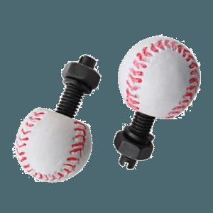 Baseball-License-Plate-Fastener
