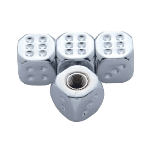 Chrome-Dice-Valve-Caps