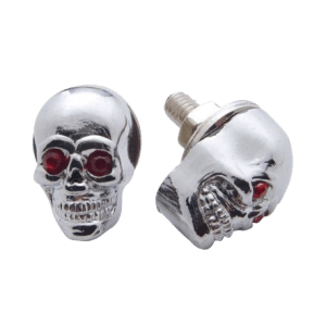 Chrome-Skull-w-Jewel-Eyes-License-Plate-Fastener
