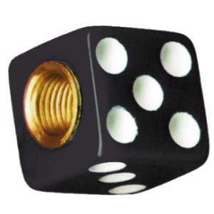 Dice-Valve-Caps---Black-w-White-Dots