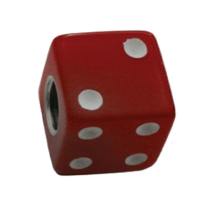 Dice-Valve-Caps---Red-w-White-Dots