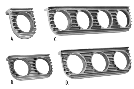 Arnold's Automotive Services - Finned-Gauge-Panels