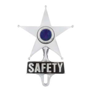 Safety-Star-License-Frame-Ornament---Blue