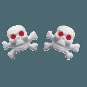 White-Skull-Valve-Caps